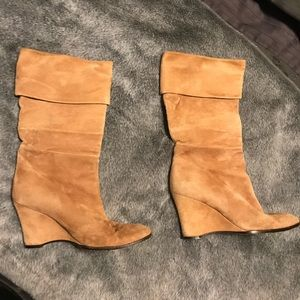 Theory suede booties